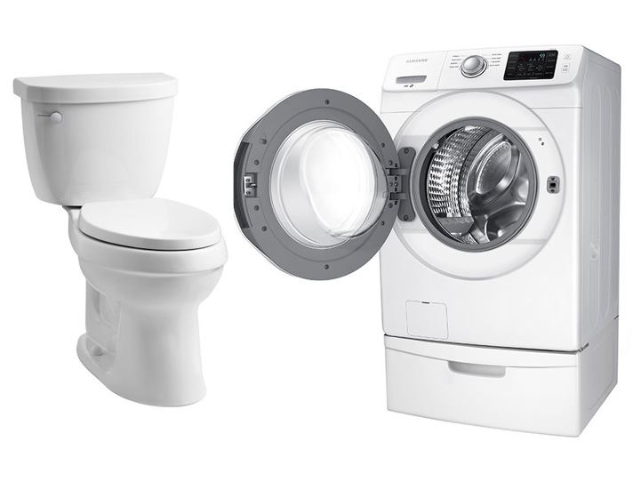 Toilet and Washer