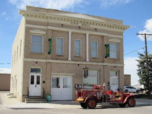 Town Hall and Fire Truck small