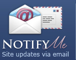 Notify Me - Site updates via email
